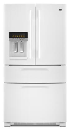 Maytag MFX2570AEW Ice2O Series  French Door Refrigerator with 25 cu. ft. Total Capacity 4 Glass Shelves