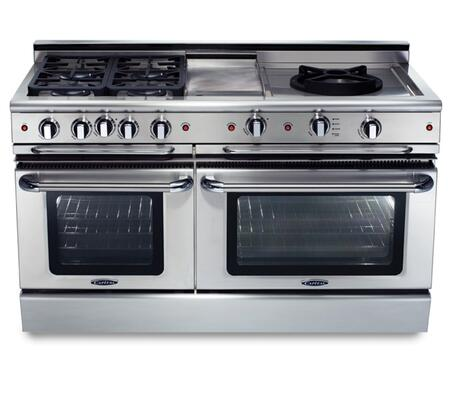 """Capital GSCR604QWN 60"""" PRECISION Series Gas Freestanding Range with Sealed Burner Cooktop, 4.6 cu. ft. Primary Oven Capacity, in Stainless Steel"""