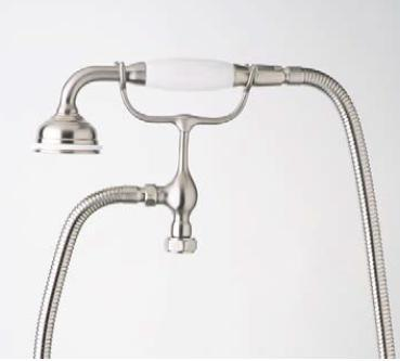 Rohl U.5380LS- Georgian Era Series Handshower, Hose, and Cradle For Exposed Tub Fillers: