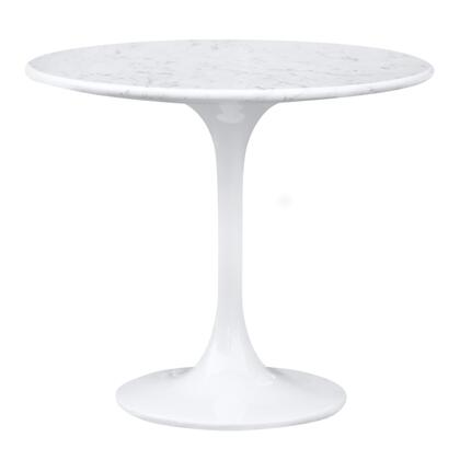Fine Mod Imports FMI9223WHITE Flower Series Modern Round End Table
