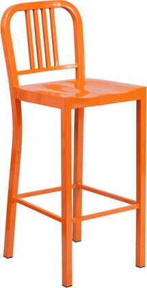 Flash Furniture CH3120030ORGG Residential Not Upholstered Bar Stool