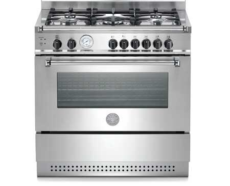 Bertazzoni A365GGVXT  Natural Gas Freestanding Range with Sealed Burner Cooktop, 3.6 cu. ft. Primary Oven Capacity, Storage in Stainless Steel