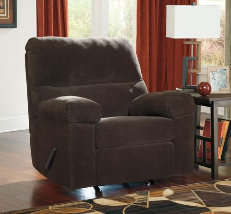 Benchcraft Zorah 9450X25 Rocker Recliner with Thick Padded Arms, Divided Back Cushion and Textured Fabric Upholstery in