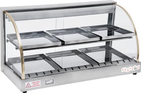 Skyfood FWD2x Food Warmer Display Case with Double Shelf