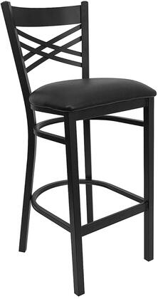Flash Furniture XU6F8BXBKBARBLKVGG Hercules Series Vinyl Upholstered Bar Stool