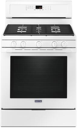 """Maytag MGR8800Fx 30"""" Freestanding Gas Range with 5.8 cu. ft. Capacity, True Convection, Power Preheat, 5 Sealed Burners, Self Clean, and Storage Drawer"""