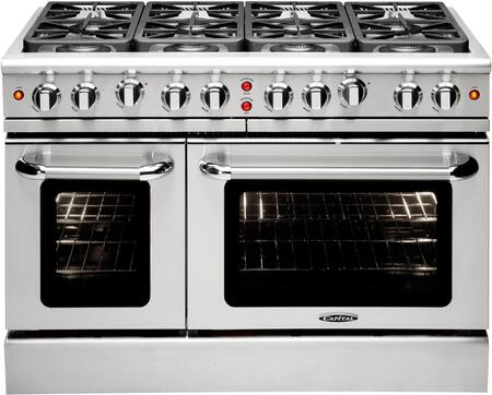 "Capital MCR488L 48"" PRECISION Series Gas Freestanding Range with Sealed Burner Cooktop, 4.6 cu. ft. Primary Oven Capacity, in Stainless Steel"