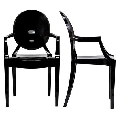 Modway EEI-905-XXX Casper 2x Injection Molded Stackable Modern Dining Armchairs Made of Polycarbonate