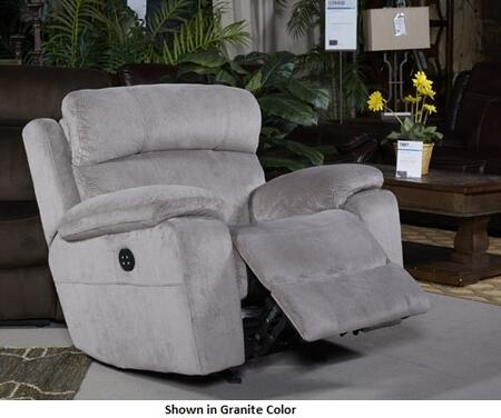 "Milo Italia Jackson MI-1436ATMP 88.6"" Power Recliner with Adjustable Headrest, Split Back Cushion, Piped Stitching, Pillow Top Arms and Fabric Upholstery in"