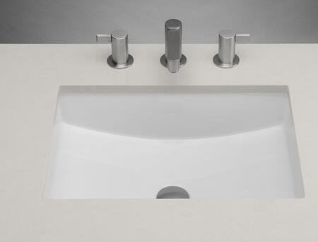 "Ronbow 200520 20"" Rectangle Ceramic Undermount Bathroom Sink with Overflow:"