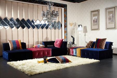 Vig Furniture Divani Casa Dubai Fabric Sectional Sofa Vgknk8450