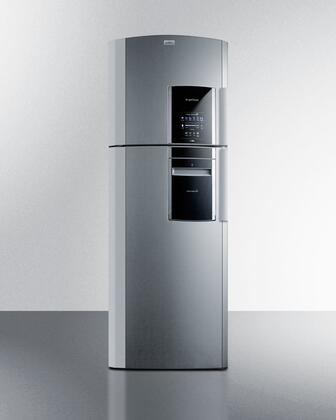 "Summit FF1525PLLHD 26"" Ingenious Series Refrigerator with 14.12 cu. ft. Capacity in Platinum"