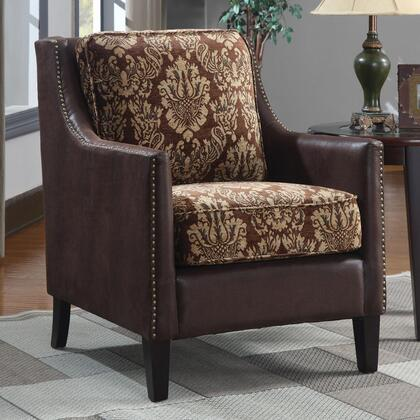 Coaster 902047 Accent Seating Series Fabric Wood Frame Accent Chair