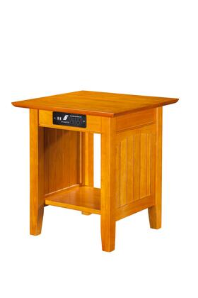 Atlantic Furniture AH1431 Nantucket End Table with Charger
