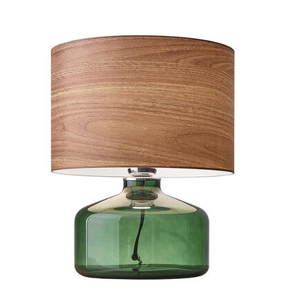 Adesso 602X05 Jade Table Lamp, Green Painted Glass Finish