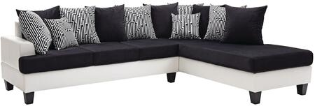 Glory Furniture G220SC Domino Series Sofa and Chaise Faux Leather Sofa