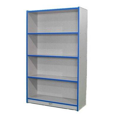 """Mahar M60SCASE 60"""" Single Sided Book Case in Maple Finish with Edge Color"""
