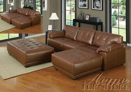 Acme Furniture 50172 Orian Series Contemporary Bonded Leather Ottoman