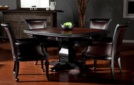 American Heritage 100745 2 in 1 Fiona Gathering and Game Table with Smooth Edges, Fully Padded Perimeter, Central Column Base and Felted Playing Space: