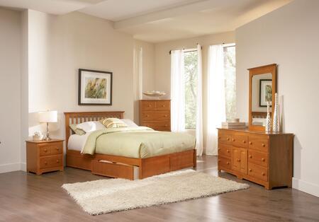 Atlantic Furniture SMISSIONFPFFULLCL Mission Series  Full Size Bed