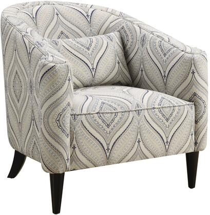 Coaster 902405 Claxton Series Armchair Linen Wood Frame Accent Chair