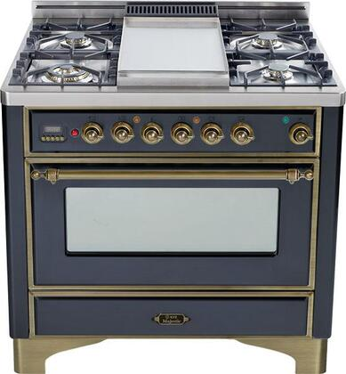 "Ilve UM90MPMY 36"" Majestic Series Dual Fuel Freestanding"