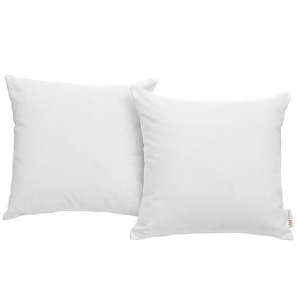 "Modway Convene Collection 17.5"" 2 PC Outdoor Patio Pillow Set with Waterproof Nonwoven Fabric Inner Cover, Polyester Fiber and Weimas Fabric Outer Cover in"