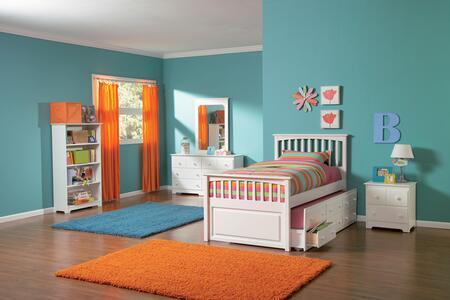 Atlantic Furniture YBMATESTDSTTWINWH Mate's Series  Twin Size Bed