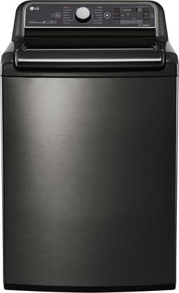 "LG WT7600H 27"" Energy Star Qualified Super Capacity Top Load Washer with 5.2 cu. ft. Capacity, Steam Cycle, Allergiene Cycle, and TrueBalance Plus:"
