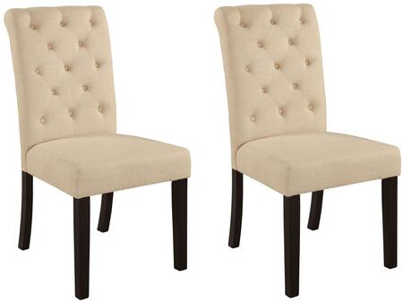 Acme Furniture 71582 Vriel Series Transitional Fabric Wood Frame Dining Room Chair