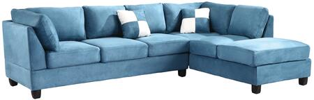 Glory Furniture G638BSC G630 Series Stationary Suede Sofa