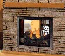 """Majestic LDVPNSC Pearl 36"""" Multi-View Direct Vent Gas Fireplace Up to 37,000 BTUs with Tempered Glass, Premium Log Set and Glowing Ember Bed, Signature Command System and Certified Safety Barrier"""