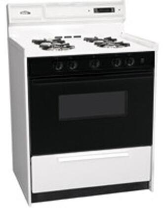 "Summit WNM2307DK 30""  White Gas Freestanding Range with Open Burner Cooktop, 3.69 cu. ft. Primary Oven Capacity, Broiler"