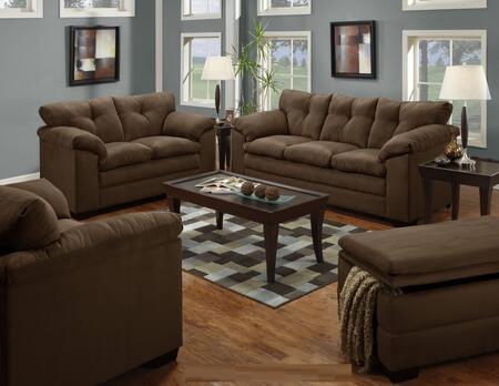 Simmons Upholstery 656503015095LUNACHOCOLATE Luna Living Roo