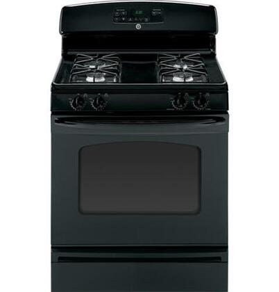 GE JGB250DETBB  Gas Freestanding Range with Sealed Burner Cooktop, 4.8 cu. ft. Primary Oven Capacity, Storage in Black