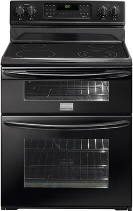 Frigidaire FGEF301DNB Gallery Series Electric Freestanding Range with Smoothtop Cooktop, 4.4 cu. ft. Primary Oven Capacity, Oven in Black