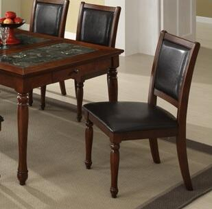 Legends Furniture ZJM8061 Monte Cristo Series Traditional Leather Wood Frame Dining Room Chair