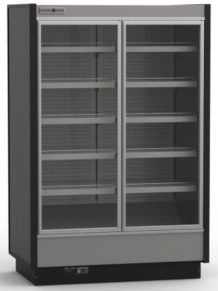 Hydra-Kool KGVMDxR High Volume Grab-N-Go Case with Doors, cu. ft. Capacity, Cooling BTU, Remote Condensing Unit, in Black