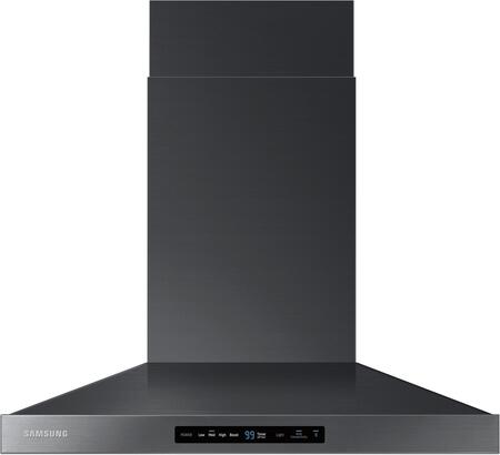 "Samsung NK30K7000W 30"" Wall Mounted Range Hood with 600 CFM, LED Lighting, Baffle Filters and Wifi Hood Connectivity, in"
