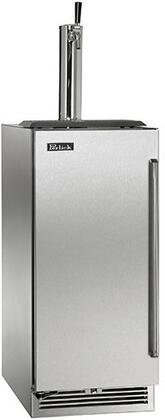 """Perlick HP15TO31xC 15"""" Signature Series Outdoor Beer Dispenser with 2.8 cu. ft. Capacity, Stores a 1/6 Barrel, RAPIDcool System, Stainless Steel Interior and Digital Control Module, in Stainless Steel with"""