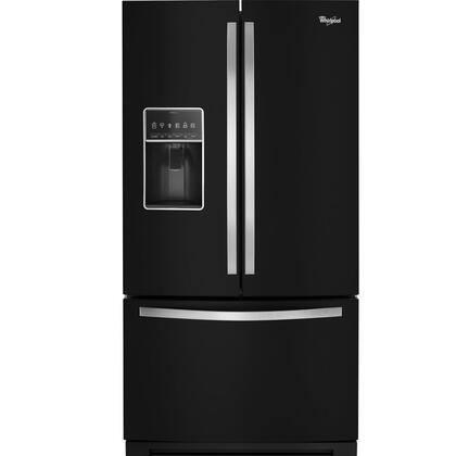 "Whirlpool WRF757SDE 36"" 27 cu. ft. French Door Refrigerator With Bottom Freezer, StoreRight  System, Exterior Ice and Water with EveryDrop  Water Filter, Triple Crisper In"