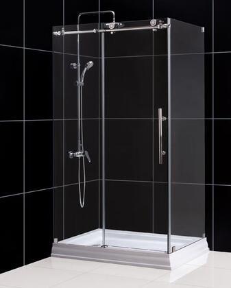 """DreamLine SHEN-61 Enigma-X Fully Frameless Sliding Shower Enclosure, Clear 3/8"""" Glass Shower"""