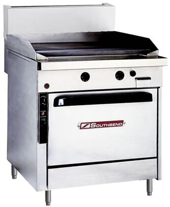 "Southbend P32AX Platinum Series 32"" Griddle with Four Standard Burners, Electronic Pilot Ignition, and Convection Oven Base, Up to 80000 BTUs (NG)/72000 BTUs (LP)"