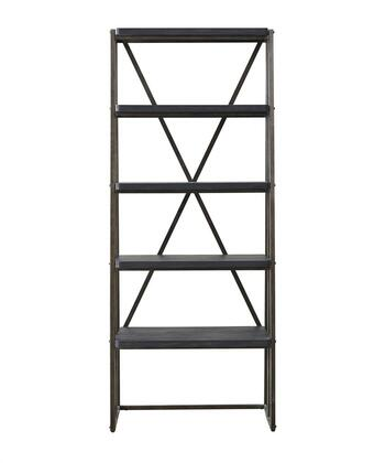 Pulaski 402600 Vintage Tempo Series Wood and Metal 4-5 Shelves Bookcase
