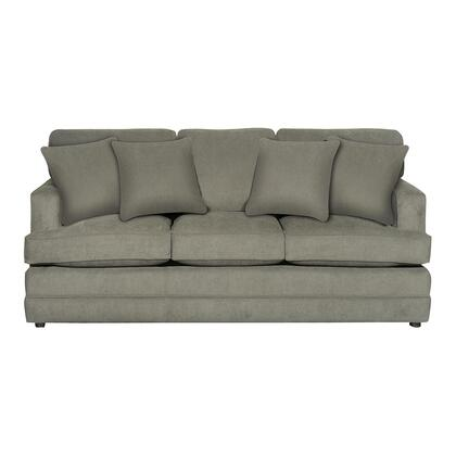"""Bassett Furniture Dalton Collection 3937-62FC/141-x 83"""" Sofa with Fabric Upholstery, Semi Attached Back and Loose Box Welted Seats in"""