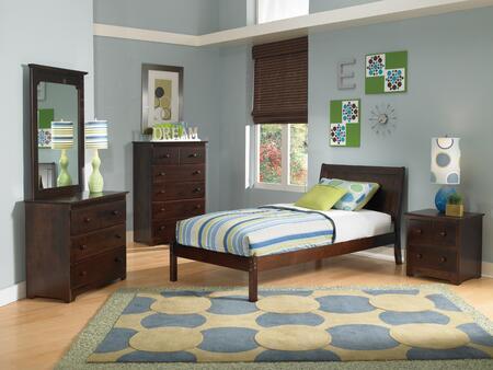 Atlantic Furniture PORTLANDOFTWINAW Portland Series  Twin Size Bed