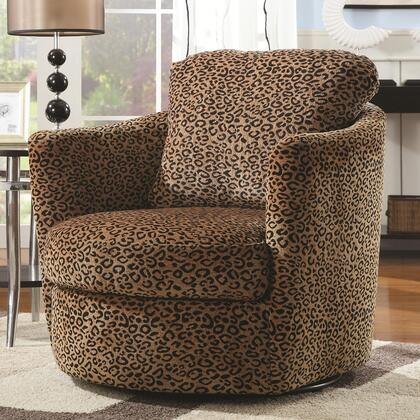 Coaster 900195 Accent Seating Series Armchair Fabric Wood Frame Accent Chair