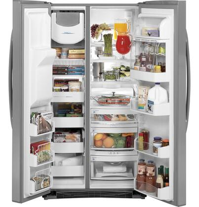 Ge Pshw6ygzss Side By Side Refrigerator With 25 6 Cu Ft
