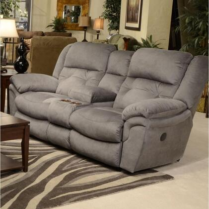 Catnapper 64259204438204538 Joyner Series Faux Leather Reclining with Metal Frame Loveseat