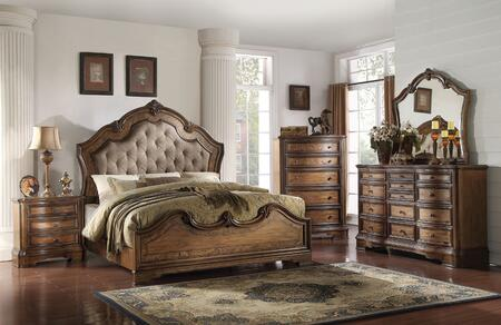 Acme Furniture Valletta 5 Piece King Size Bedroom Set